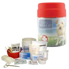 FIRST AID KIT for PETS ♥     Be prepared for disasters, emergencies while traveling or sudden injuries at home with this First Aid Kit for Pets. Great to keep on boat, in car, in the home... also makes a GREAT gift, so don't FUR'get to Repin!    $29.95
