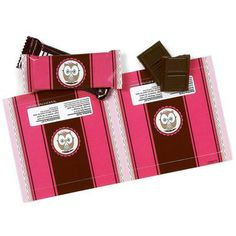 Pink Owl Small Candy Bar Wrappers