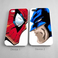 Couples Case Superhero Wolverine and Spiderman Couples Phone Case Set of 2 Only $25.99 http://artbetinas.com/collections/couples-phone-case