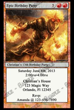 Possible invite for Ethan's magic themed birthday party.
