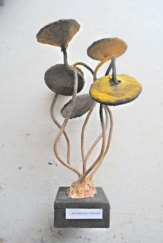 Textile Fungus Specimen Mushroom Toadstool by MisterFinch on Etsy