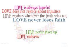 LOVE Endures #PinTheWord 1 Corinthians 13:6-7