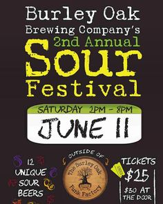 It's gonna be awesome!! Live music by Strange Heat local food vendors unique sour ales...what more could you want for the start of summer!! Link in our profile for tickets #beburley #sourales by burleyoak
