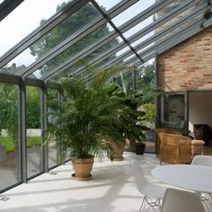 Similar glass roof to ours now, open brickwork