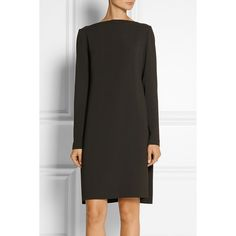 Amsai stretch-crepe dress Calvin Klein Collection, Chocolate, Women's,... (4.945 BRL) ❤ liked on Polyvore featuring dresses, longsleeve dress, long sleeve dress, chocolate brown dress, chocolate dress and calvin klein collection dresses