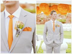 Inspiring Orange  #orangewedding  #orangegroom  #weddingbelleblog