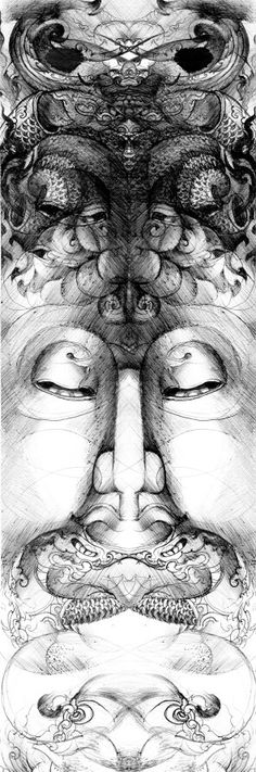 Sketch Drawing   (Thai Style) pen on paper