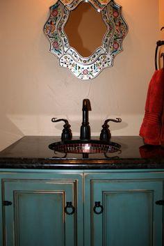 Bath room paint turquoise cabinets ideas for 2019 Turquoise Cabinets, Turquoise Bathroom, Shaker Kitchen Cabinets, Kitchen Cabinet Styles, Bathroom Cabinets, Bathroom Vanities, Kitchen Cabinet Inspiration, Basement Inspiration, Bath Boms Diy