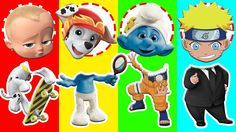 Wrong Heads Paw Patrol Naruto Shippuden Smurfs Boss Baby  Finger Family ...
