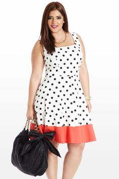 Trim and Verve Dot Dress
