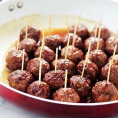 These Brown Sugar-Glazed Turkey Meatballs