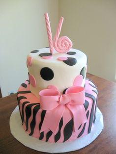 Sweet 16 zebra cake