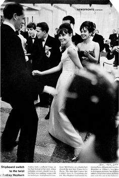 Audrey Hepburn doing the Twist. LOVE THIS!