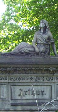 Lake View Cemetery Tombstone Sculptures - This beautiful Arthur-Haserot monument was sculpted by Joseph Carabelli in 1880, who was only 30 years old at the time.