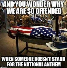 Respect! ❤, makes you think less of the NFL when they can't honor military hero's.