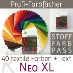 """Frühling-Herbst /""""Neo/"""" 30 Farben Fächer Frühling-Herbsttyp Stoff-Farbpass"""