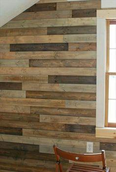 recubrimiento muro de madera pared pallet palet