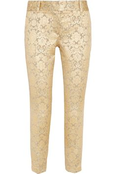 PAUL & JOE Pakret Metallic Jacquard Pants SIlver/Gold $395 FREE WORLD DELIVERY * FREE GIFT WRAPPING * FREE RETURNS * 100% QUALITY ASSURANCE GUARANTEED..FOLLOW US ON POLYVORE! WE HAVE JUST BEEN HONORED WITH THE OFFICIAL BLACK SEAL ALONG WITH GUCCI & OTHER GREAT COMPANIES! SAVE $45.00 ON THESE PANTS UNTIL DEC 21st!