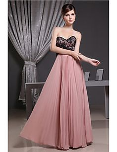 446130caf87a3d   45.00  A-Line Sweetheart Neckline Floor Length Chiffon Bridesmaid Dress  with Draping   Lace by LAN TING Express