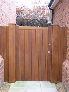 New House Front Gate Wooden Doors Ideas Backyard Gates, Garden Gates And Fencing, Driveway Gate, Garden Doors, Fence Gate, Outdoor Gates, Side Gates, Front Gates, Entrance Gates