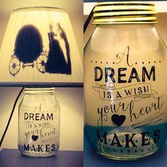 Cinderella Inspired Mason Jar Lamp by PracPerfCrafts on Etsy