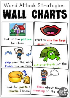 Word Attack Strategies For Beginning Readers Free This Reading ...