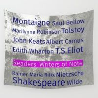 The Reader's Writers of Note Wall Tapestry