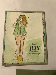 Brystl Girl stamp from Unity Stamp Co.    watercolor technique using Stampin Up 2015-2017 in color inks