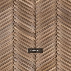 Curva Chevron Wallcoverings from the Inceptiv Collection. Available in 13 colors, shown here in Lugano. Wood Interior Design, Wood Design, Wood Panel Walls, Wood Paneling, Panelling, Chevron, Wood Cladding, Wall Patterns, Design Patterns