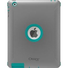 OtterBox Defender Series Case with Screen Protector and Stand for iPad 4th Generation, iPad 2 and 3 - Harbor-Teal - Gray