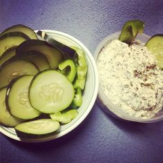 #LowCarbHack Want some dip but can't have the chips? Slice up some cucumber or peppers and vuala! A tasty alternative. #LowCarb #Tasty #Snacks by yellowmiss