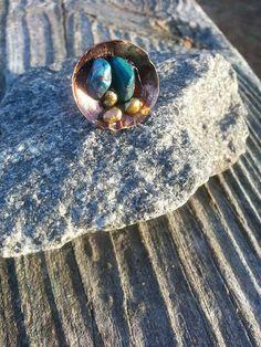 Copper Nest Ring $25