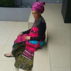 Umbaco by Vuyokazi Roundy Nini African Print Dresses, African Fashion Dresses, African Dress, African Outfits, African Clothes, African Prints, Xhosa Attire, African Attire, African Wear