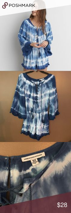 NWOT American Eagle, Tye Dye- Lace Up Romper! NWOT American Eagle, Tye Dye- Lace Up Romper! Size XS! American Eagle Outfitters Shorts