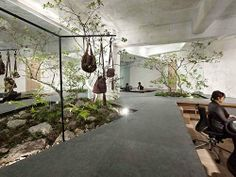 Interesting indoor garden office concept