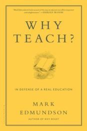 What happened to the life-changing, mind-altering, value-questioning pursuit of knowledge that we call education? Why do we teach?