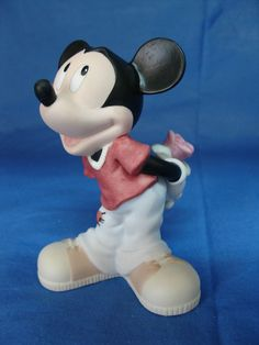 Mickey Mouse w/ Rose  Will You Be Mine Disney Precious Moments Figurine #PreciousMoments
