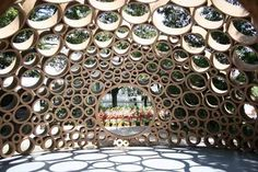 Packed Cardboard Pavilion — Inhabitat | Apartment Therapy