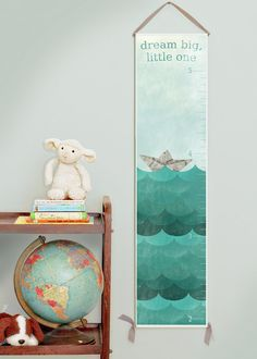 Canvas growth chart for girl's or boy's room or gender neutral nursery decor. 50% of all profits go straight to orphan care ministries, missions, and adoptions