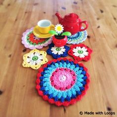 #crochet coasters by Made with Loops