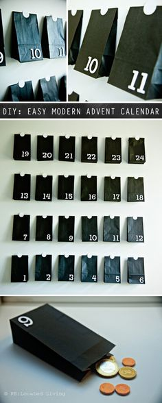 DIY: Easy Modern Advent Calendar