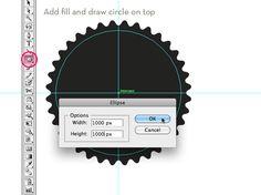 Create a cog shape in Illustrator