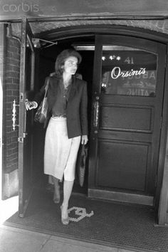 Jackie Onassis Leaving Orsini's, 1979 The Orsini's were former homeowners in Cashiers, NC #orsini #jackio #jackieonassis