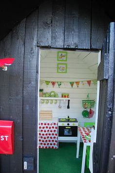 A look inside #playhouse #play kitchen