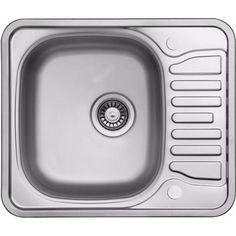Acier inoxydable poli réversible d'un évier avec égouttoir. (LA095) - LA095 DE - Plomberie sanitaire chauffage