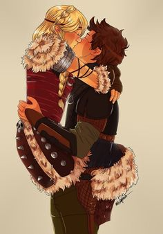 Hiccup and Astrid