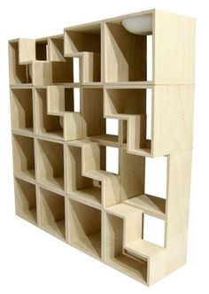 Furniture for Cats (33 pics) - tetris bookcase