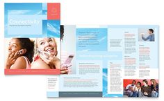 communications company brochure design template by stocklayouts