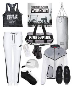 """""""Monochrome gym style"""" by thestyleartisan ❤ liked on Polyvore featuring NIKE, Seletti, Calvin Klein, Elisabeth Weinstock, monochrome, gym, gymstyle and NewYearsResolutions"""