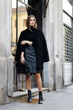 All black | Giorgia Tordini | #streetstyle                              …